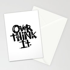 over think it. Stationery Cards