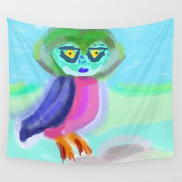 The Eyes of an Owl Wall Tapestry