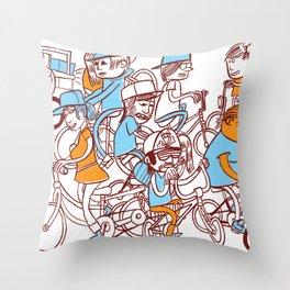 Chain Gang ©Josh Quick  Throw Pillow