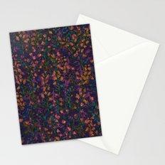 purple fleur Stationery Cards