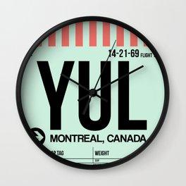 YUL Montreal Luggage Tag 2 Wall Clock