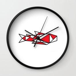 Japanese Inspired Matsuba Koi Wall Clock
