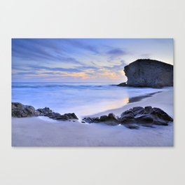 Monsul beach at sunset Canvas Print