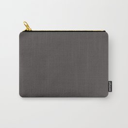 Solid Gray Wolf html Color Code #504A4B Carry-All Pouch