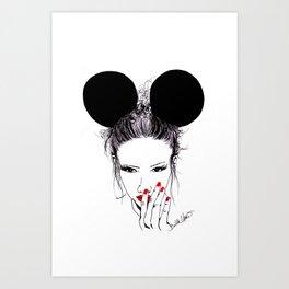 Minnie Mouse Art Print