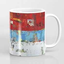 Folly Bright Red White Modern Art Abstract Painting Coffee Mug