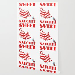 Sweet But Naughty Merry Christmas Happy New Year December 25 T-shirt Design Xmas Holidays Season Wallpaper