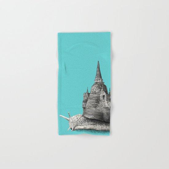 The Snail's Dream (monochrome option) Hand & Bath Towel