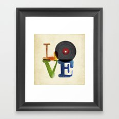 Love is Music Framed Art Print