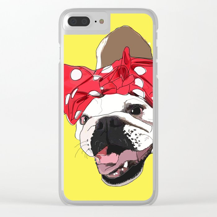 She Persisted.  Rosie the Bulldog Clear iPhone Case