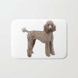 Elegant Poodle Bath Mat