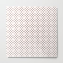 Rose Smoke Polka Dots Metal Print