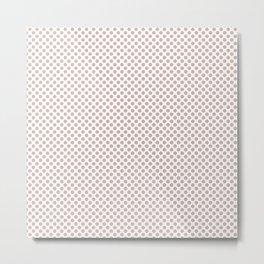 Rose Smoke Polka Dots Metal Print