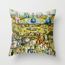 Hieronymus Bosch - The Garden Of Earthly Delights Throw Pillow