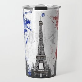 Eiffel Tower Painting Abstract Travel Mug