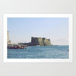 Naples, Castel dell'Ovo Art Print