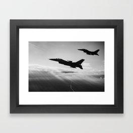 Falcons Framed Art Print