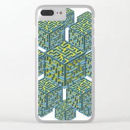 Cubed Mazes Clear iPhone Case
