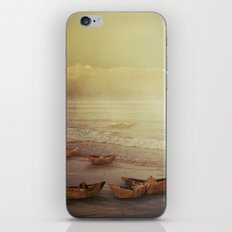 Paper Boats iPhone & iPod Skin