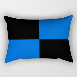 Big mosaic blue black Rectangular Pillow