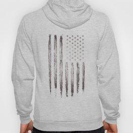 White Grunge American flag Hoody