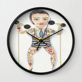 Circus strong man Wall Clock
