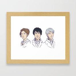 Herongraystairs Framed Art Print