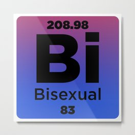 Bisexual Element Metal Print