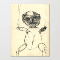 teddy bear Canvas Prints featuring Teddy bear by Attila Hegedus