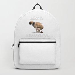 Life Is Beautiful: Man's Best Friend Backpack
