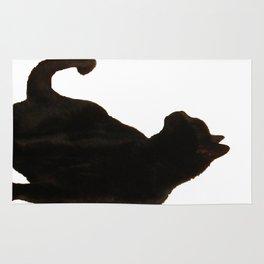 Halloween Black Cat Silhouette  Rug