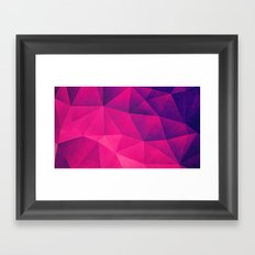 Abstract Polygon Multi Color Cubizm Painting in deep pink/purple  Framed Art Print