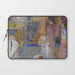 La salle de bain, Paris Latin Quarter, Cold Water Flat, Nude portrait painting by Pierre Bonnard Laptop Sleeve