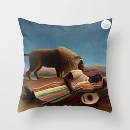 Henri Rousseau - The Sleeping Gypsy Throw Pillow