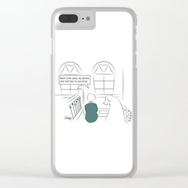 Get Off Your Phone and Socialize Clear iPhone Case