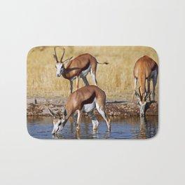 Springboks in Botswana, wildlife Bath Mat