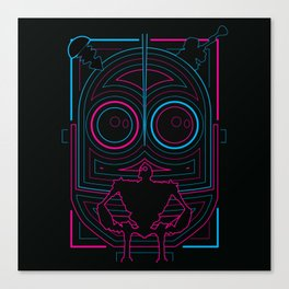 Iron Giant Neon Grid Canvas Print
