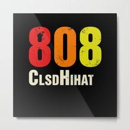 808 Closed HiHat Drum Machine Vintage Metal Print