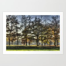 Greenwich Park Pastel Art Print