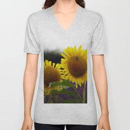 Sunflowers at Eden Project Unisex V-Neck