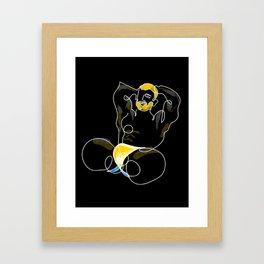 lonniedraws x matt salmon Framed Art Print