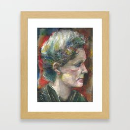 MARIE CURIE - watercolor portrait.3 Framed Art Print