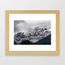 Volcanic Smoke, Antigua Guatemala Framed Art Print