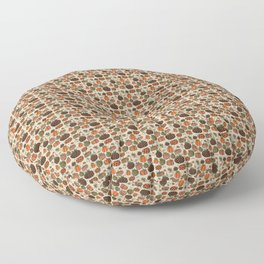Fall Pumpkin Pattern Floor Pillow