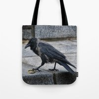 lord of the ring Tote Bags featuring lord of the ring by Jo.PinX