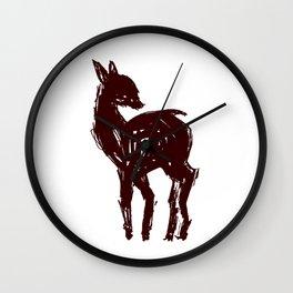 Looking Back Deer Wall Clock