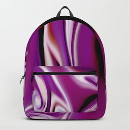 Waves and swirls, abstract, decorative patterns, colorful piece no 20 Backpack