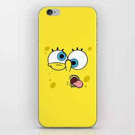 Spongebob Crazy Face iPhone Skin