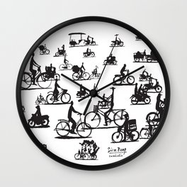 Southeast Asia Sketches: Siem Reap; Cambodia Wall Clock