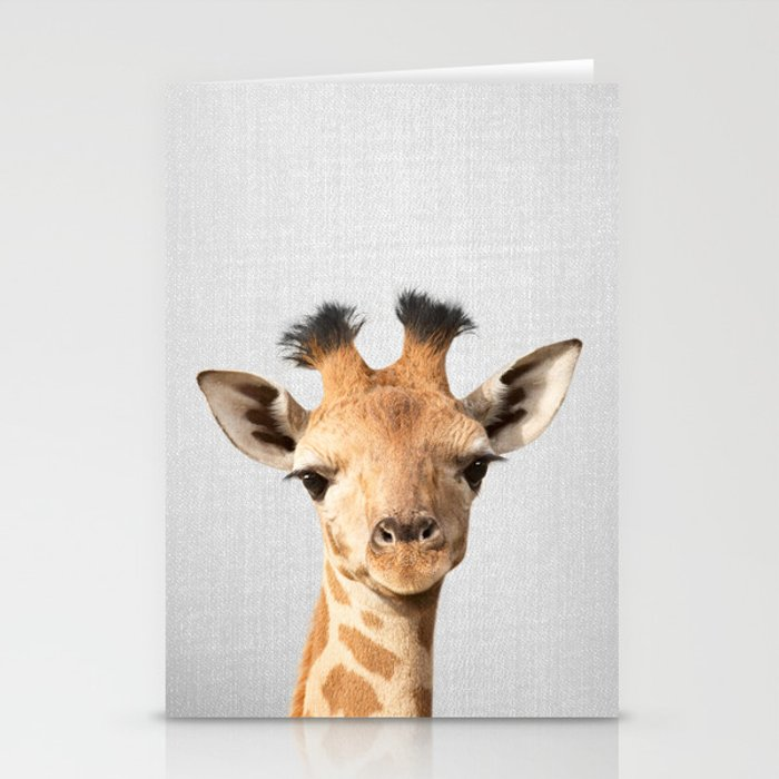 Baby Giraffe - Colorful Stationery Cards